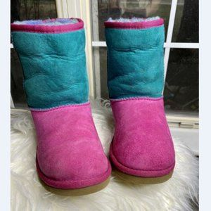 UGG Youth Girls Classic Patchwork Shearling Boot 4